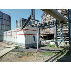 Модульная компрессорная станция Airrus NB 90 PR общей производительностью 32м3/мин с подготовкой воздуха и постом удаленного мониторинга